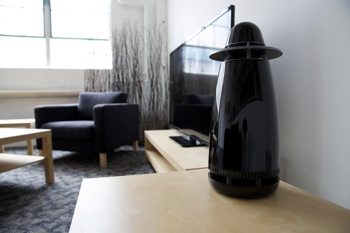 The Archt One's Sound Array evenly disperses distortion-free omnidirectional sound throughout a room