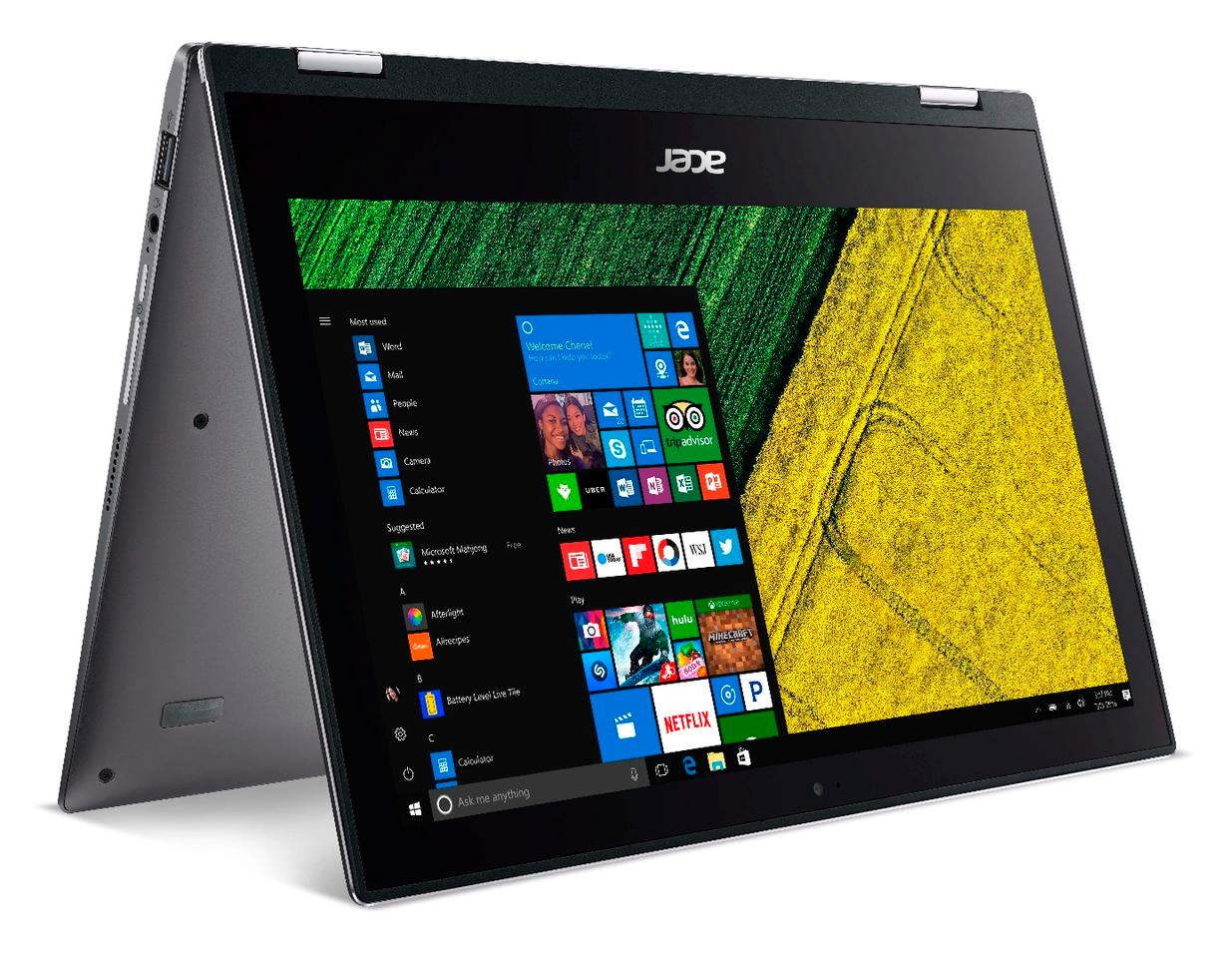 The Acer Spin 1 can fold right back on itself into a tent shape, among other configurations