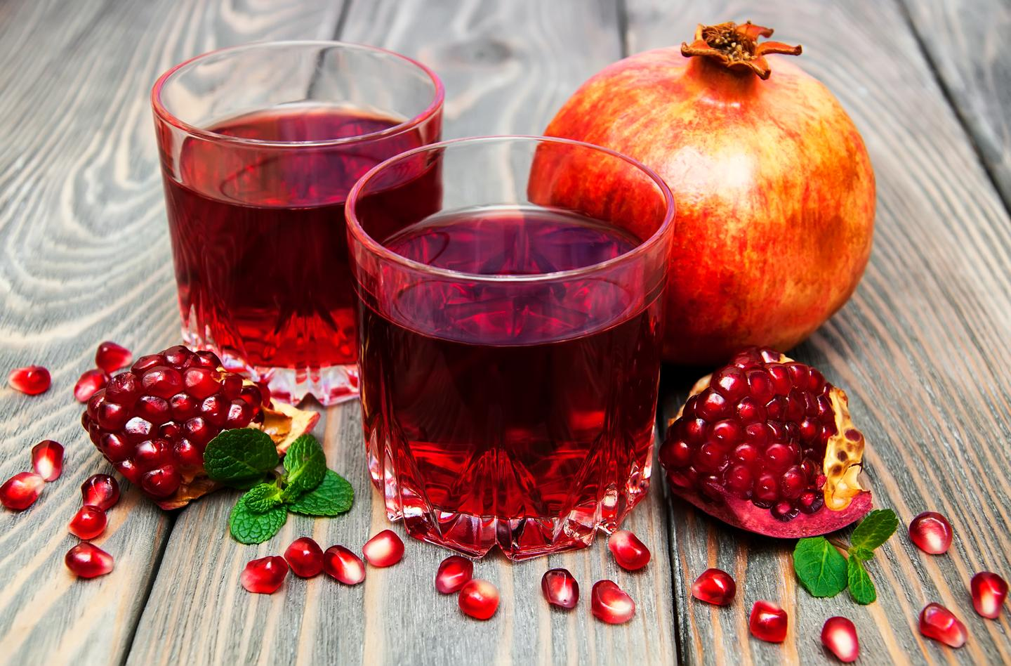 Pomegranates – and their juice – are rich in polyphenols