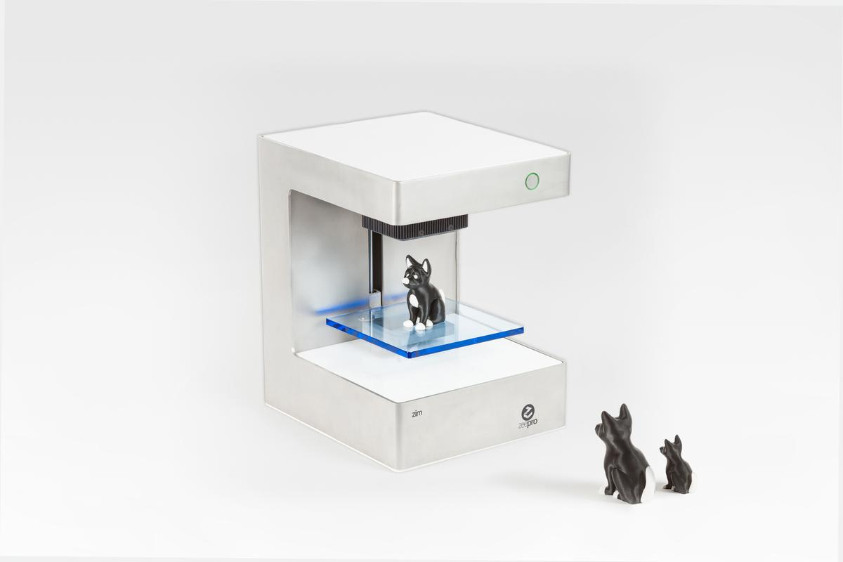 Developed by Zeepro, the Zim is one of the few pre-assembled 3D printers that offers dual print heads and a low layer resolution to create more complex objects, as well as a camera to monitor print jobs through a smartphone