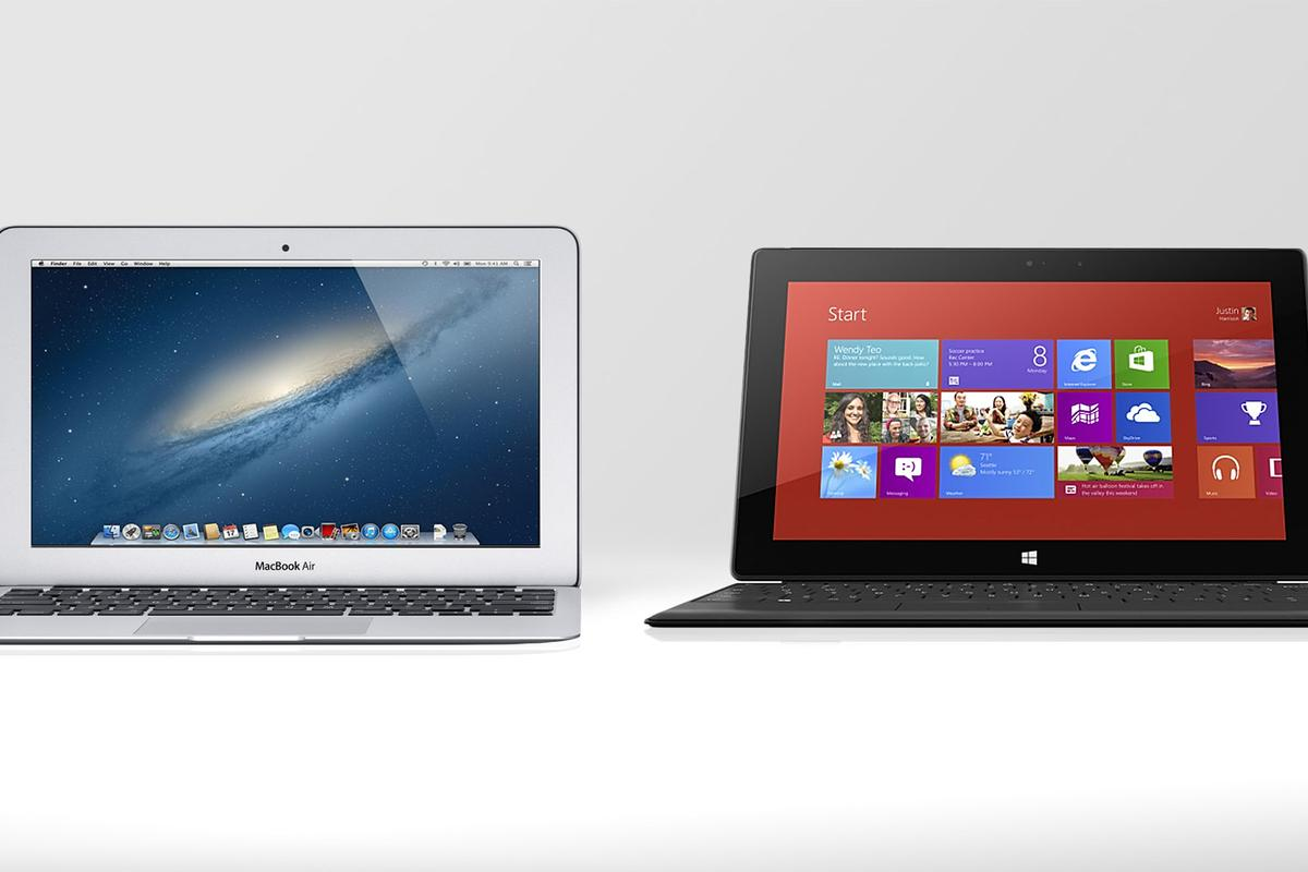 Gizmag compares the specs (and other features) of the new 11-inch MacBook Air, and the Microsoft Surface Pro