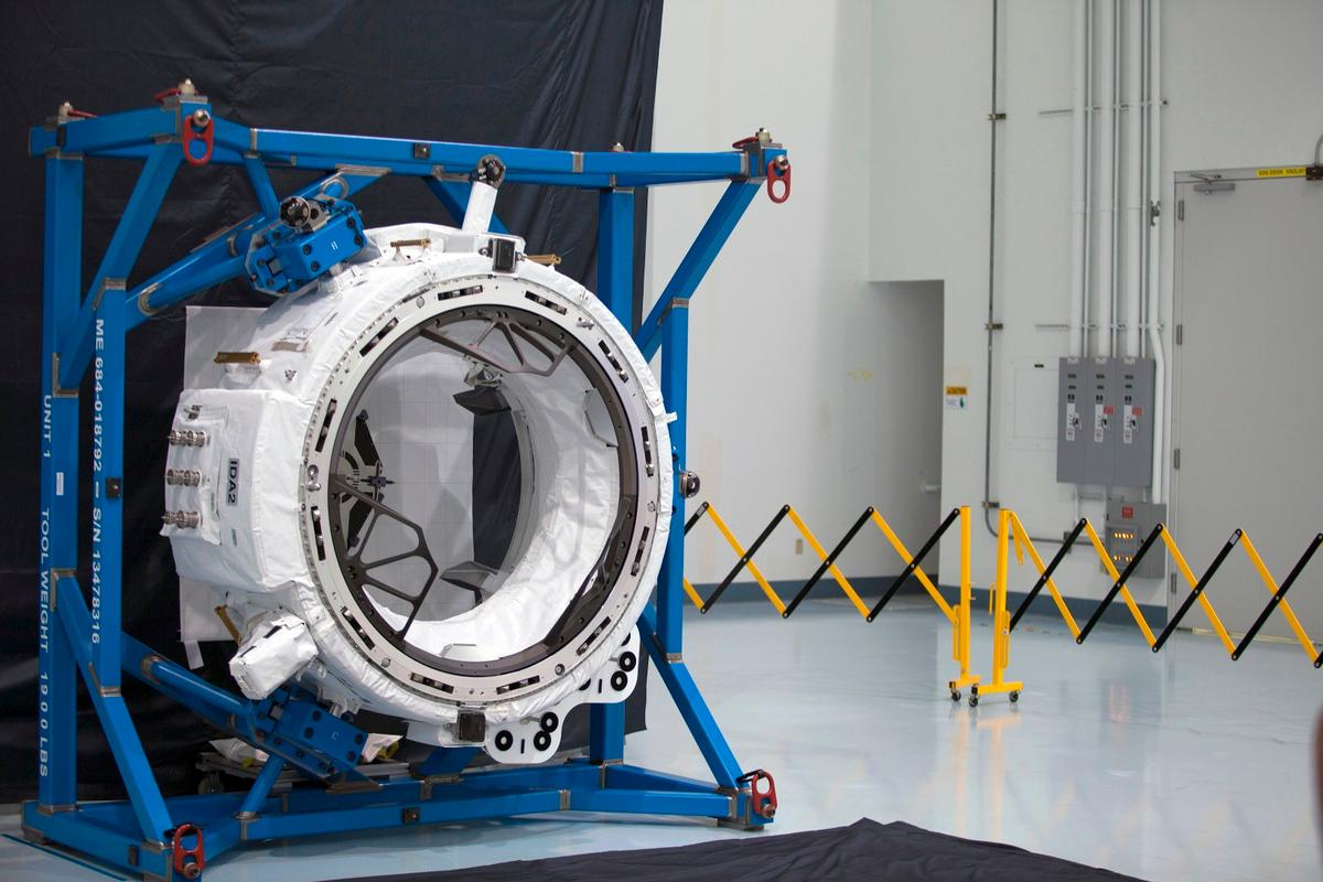 Engineers in the Space Station Processing Facility at NASA's Kennedy Space Center, Florida, recently tested the mechanisms that will connect future commercial crew spacecraft with the second International Docking Adapter