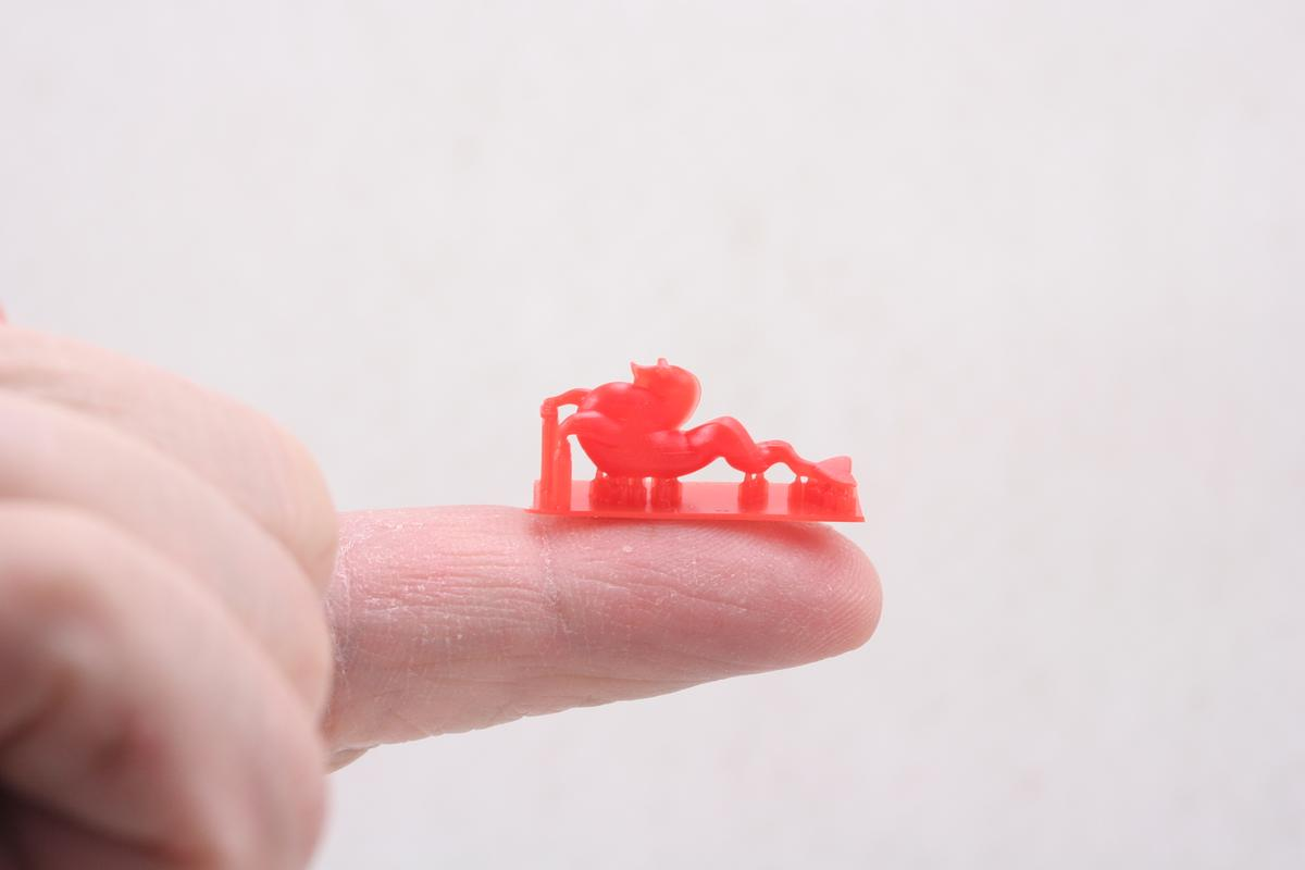 A miniature seahorse printed by the B9Creator (Photo: Carter Lee)