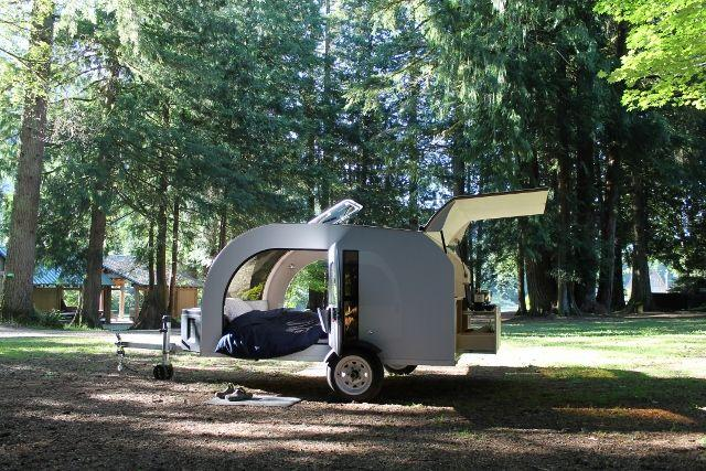 Thanks to its large doors, the Droplet is breezier than many other small trailers