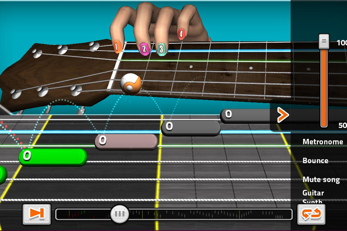 GuitarBots is an online guitar learning game from Ovelin that allows players to use a real acoustic or electric guitar to play the game's challenges