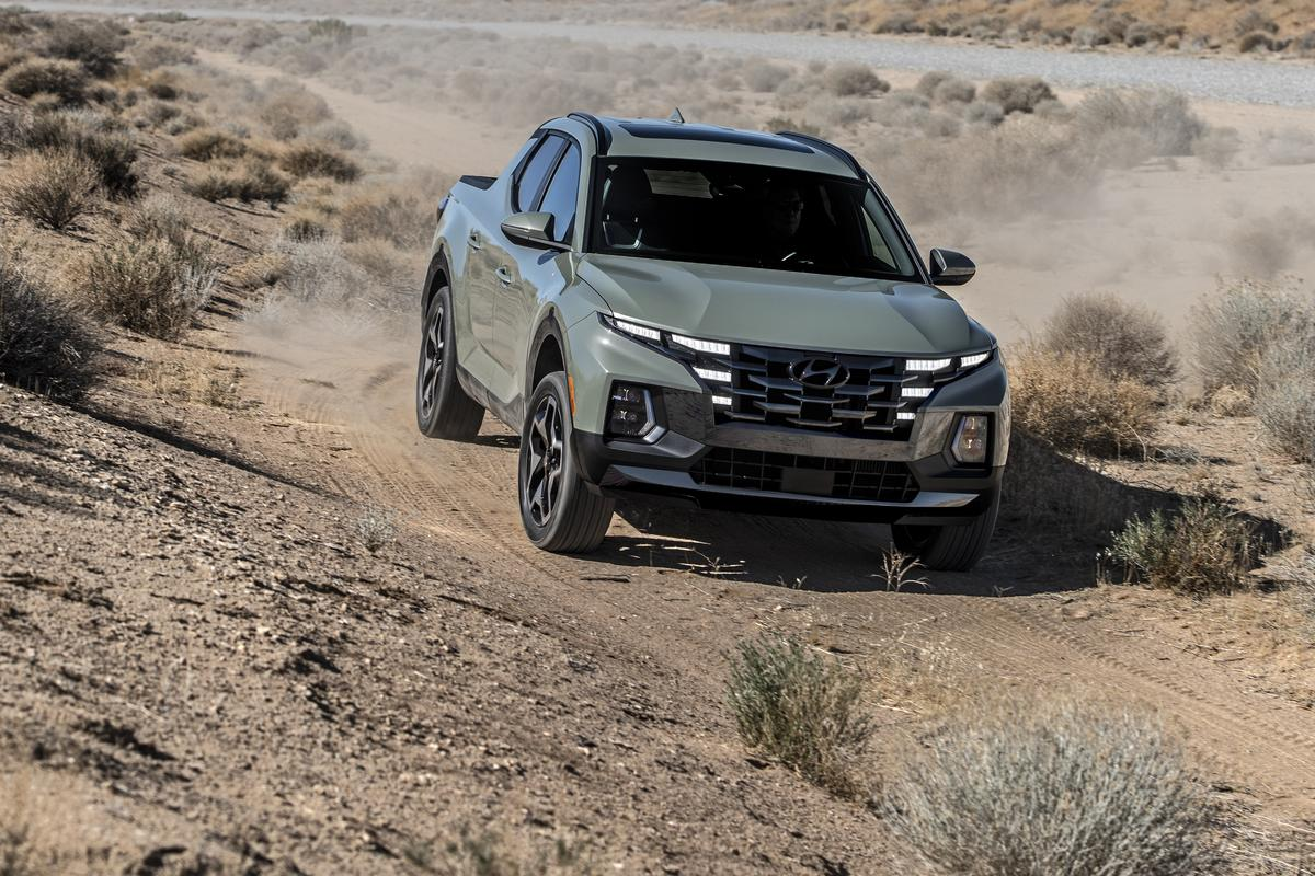 The Hyundai Santa Cruz is a truly small pickup truck, with an emphasis on adventure and utility
