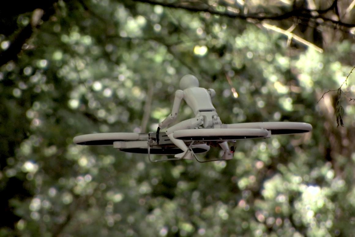 Malloy Aeronautic's latest Hoverbike prototype makes use of a quad rotor design