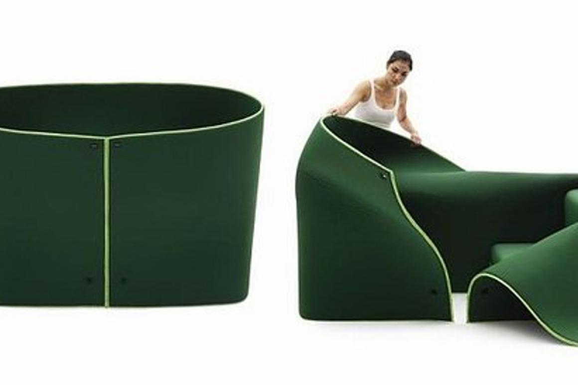 Sosia's side panels can be raised to create a secret cubby or dressing room (Image from Campeggi)