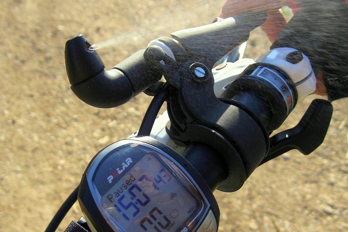 The Q-FOG provides a cooling mist from your handlebars