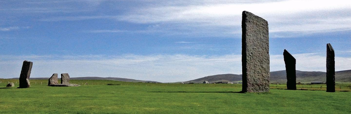The Standing Stones of Stenness were built over 5,000 years ago