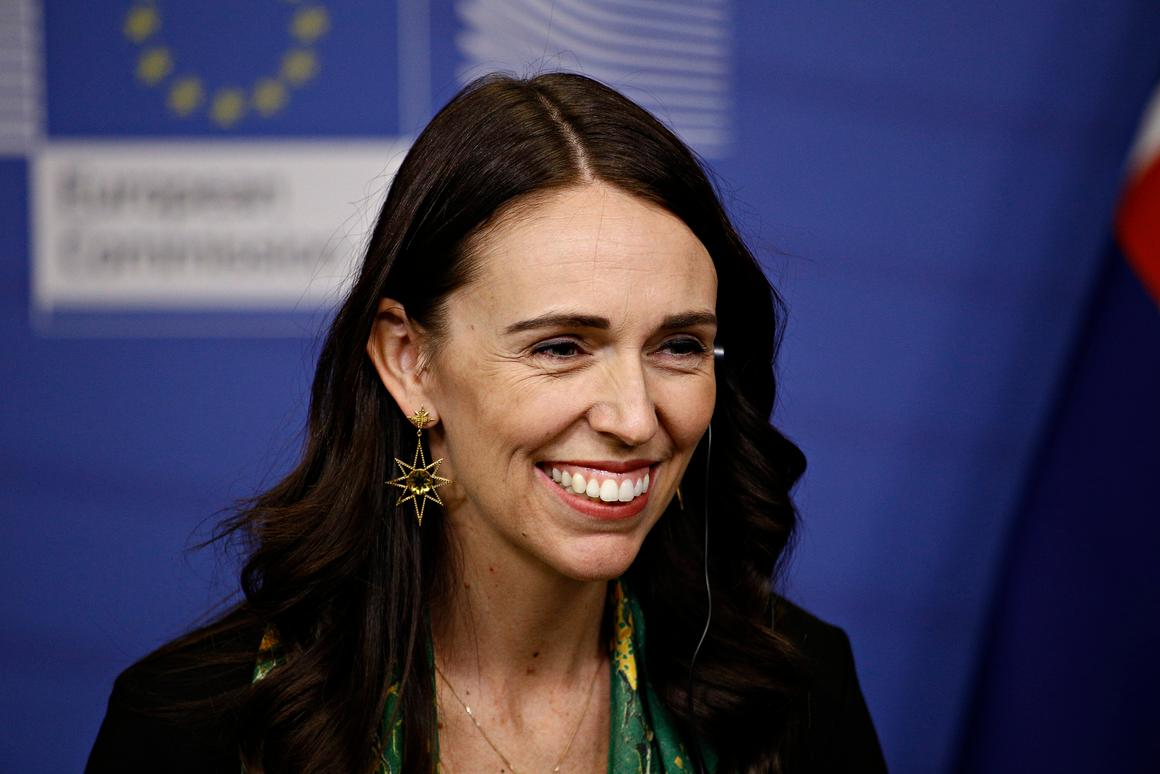 New Zealand's Prime Minister Jacinda Ardern holds a joint press conference with the European Commission earlier this year