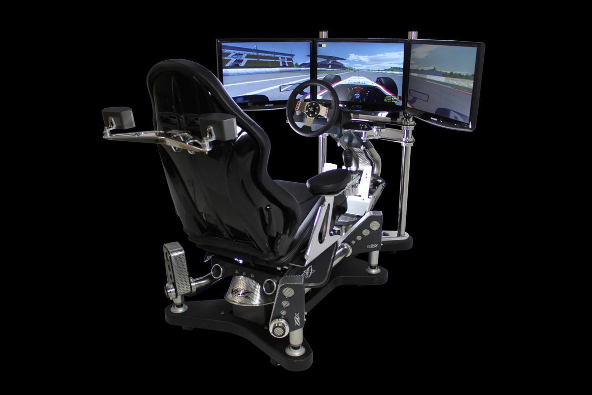 The VRX iMotion racing simulator