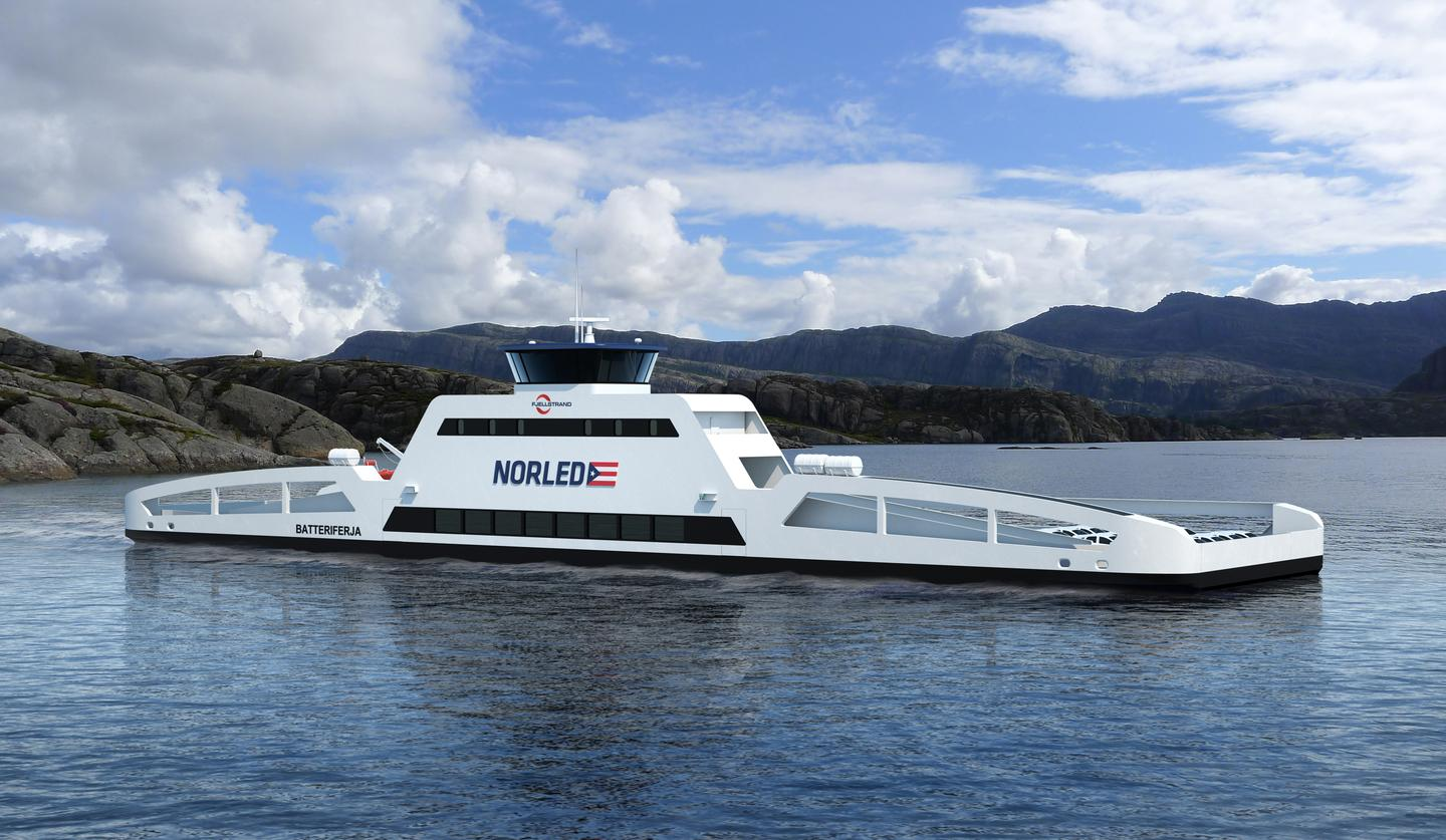 The world's first car-carrying electric ferry is scheduled to begin operations in Norway, in 2015