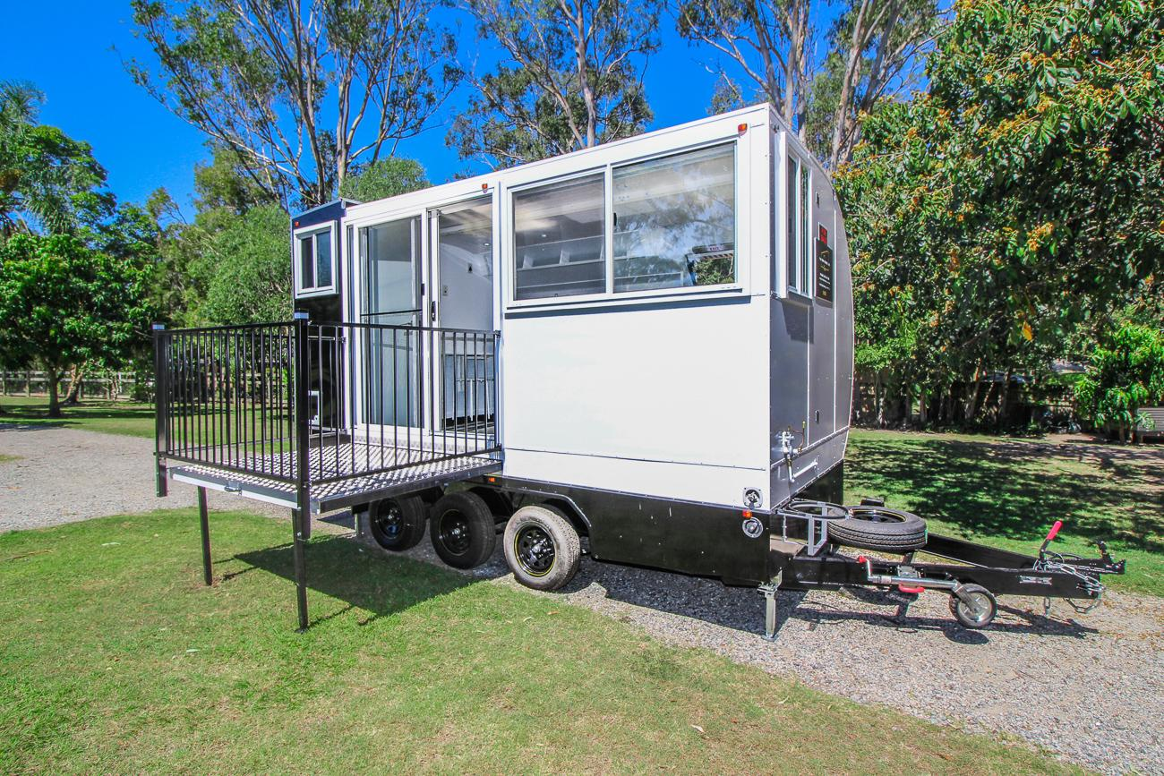 The Aero Tiny is based on a triple-axle trailer