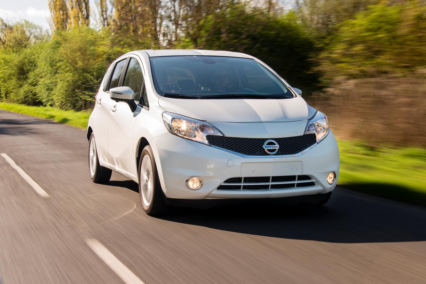 "The Nissan Note is serving as the test vehicle for the Ultra-Ever Dry ""self-cleaning"" treatment"