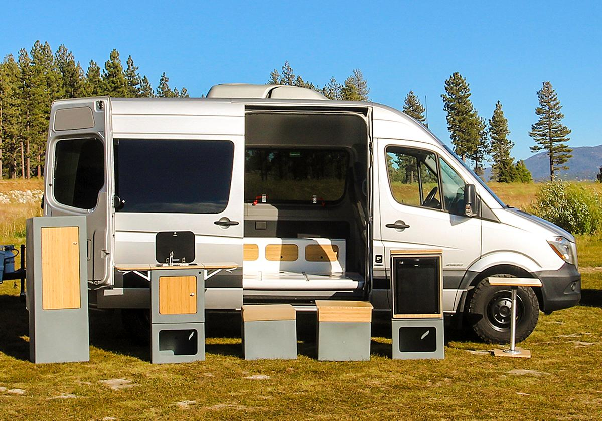 Configure Happier's individual Adaptiv modules around the van however you want at the moment or use them outside