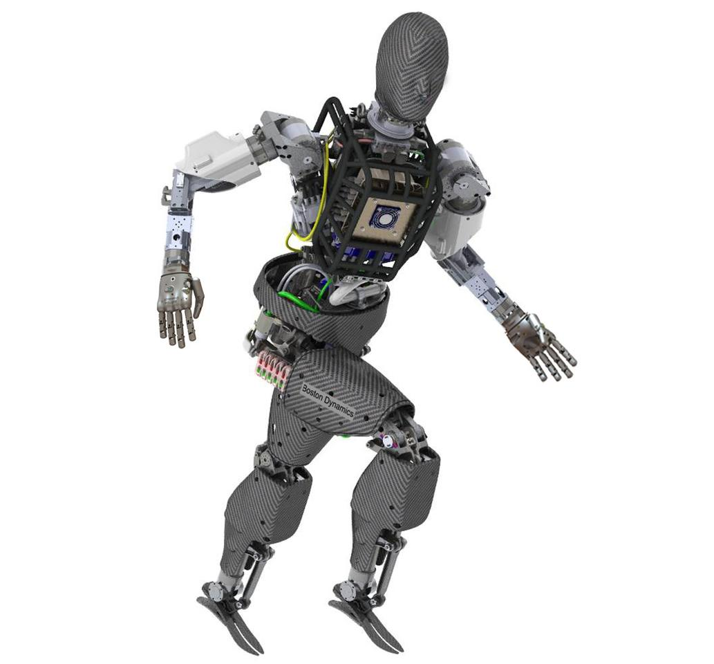The ATLAS robot being developed by Boston Dynamics, Inc. that is based on its Petman humanoid robot platform
