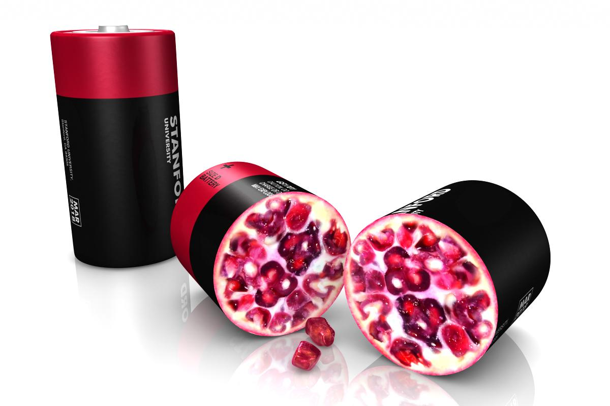 "The ""pomegranate"" design reduces the surface area of the cluster to one tenth of the sum of the individual particles inside, improving overall performance"