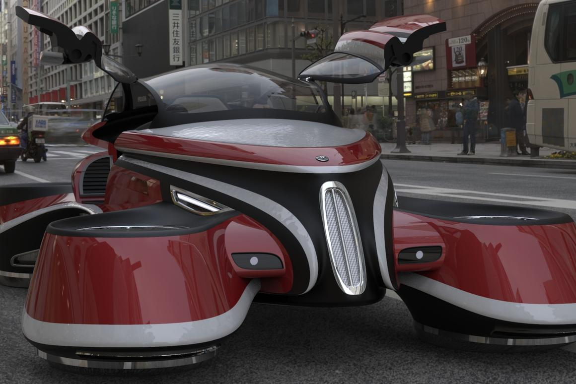 The Hover Coupè concept turns a classic early 20th century icon into a futuristic flying car
