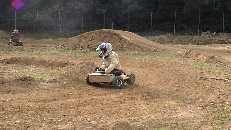 Early French Kart prototype made from wood byMarcel Beltran