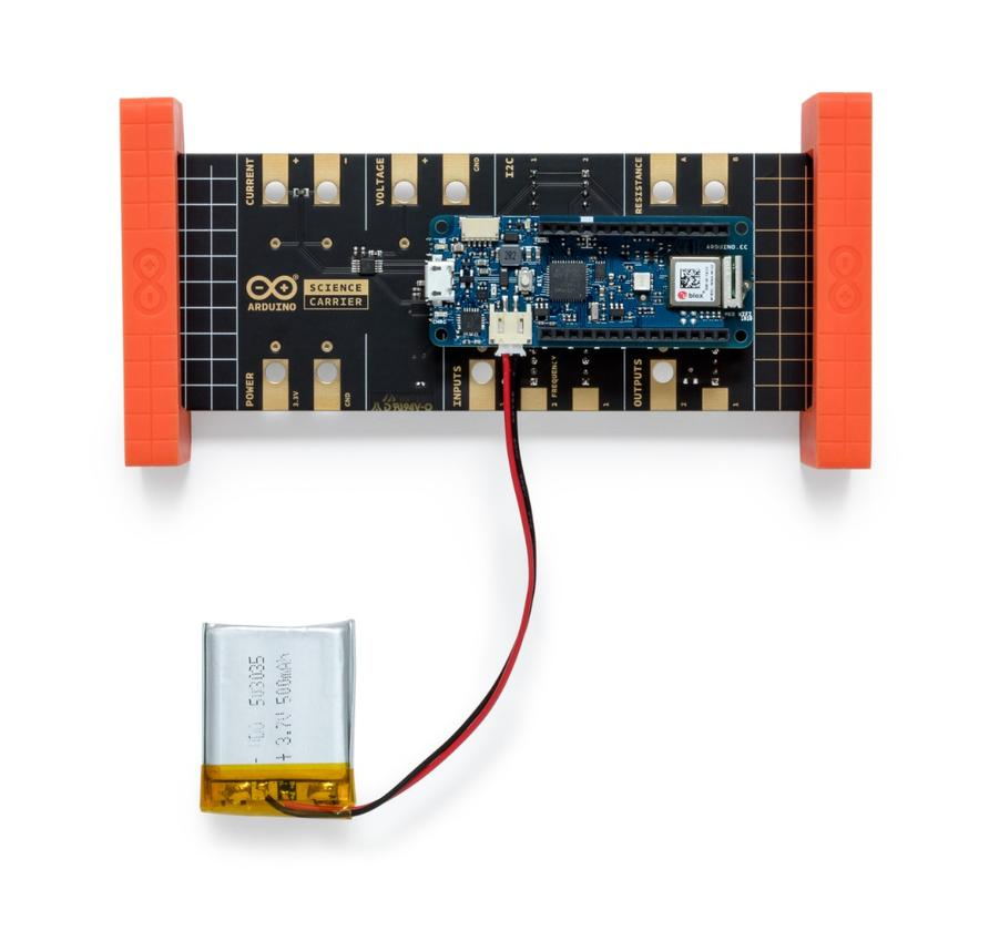 An external power source will need to be provided by the students or teacher to get the Arduino Science Kit Physics Lab to work