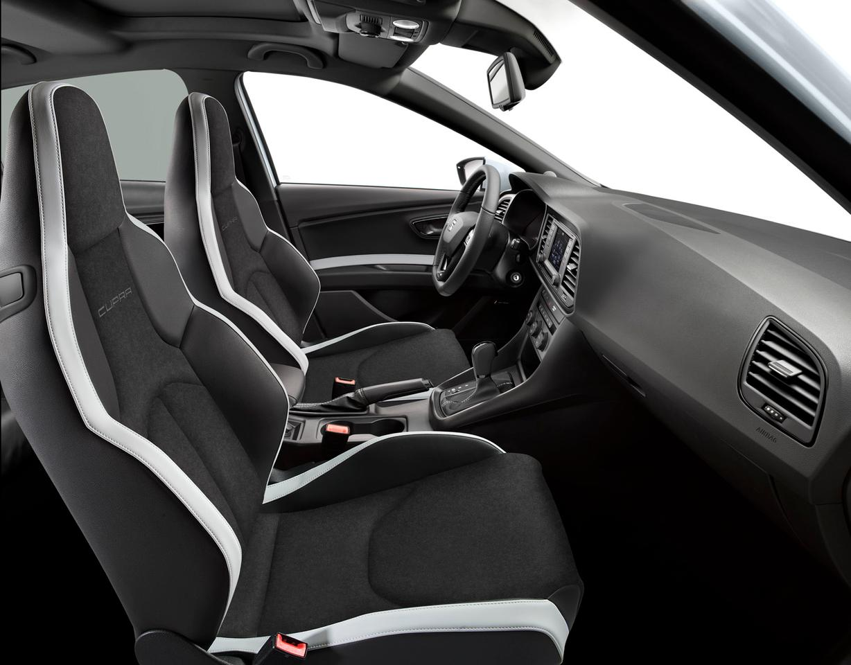 The Leon Cupra 280 can be fitted with Alcantara and leather bucket seats