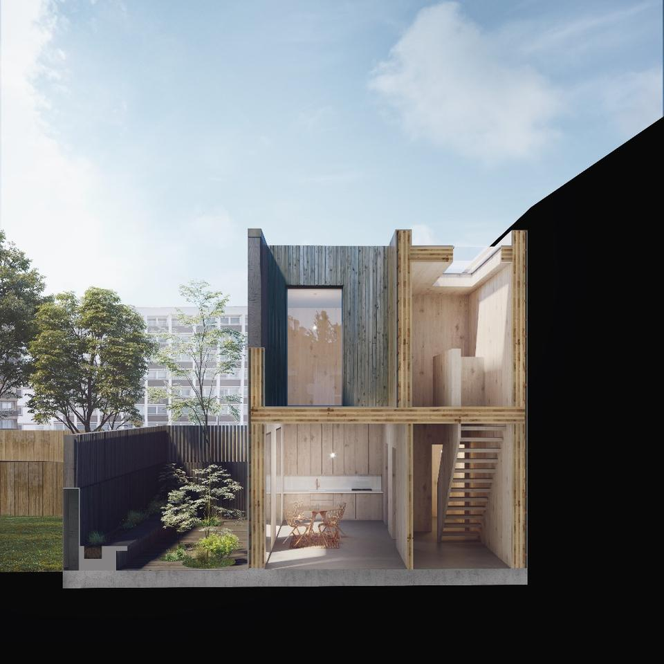 David Adjaye's Cube Haus design is an adaptive modular home that can respond to a sites's challenges