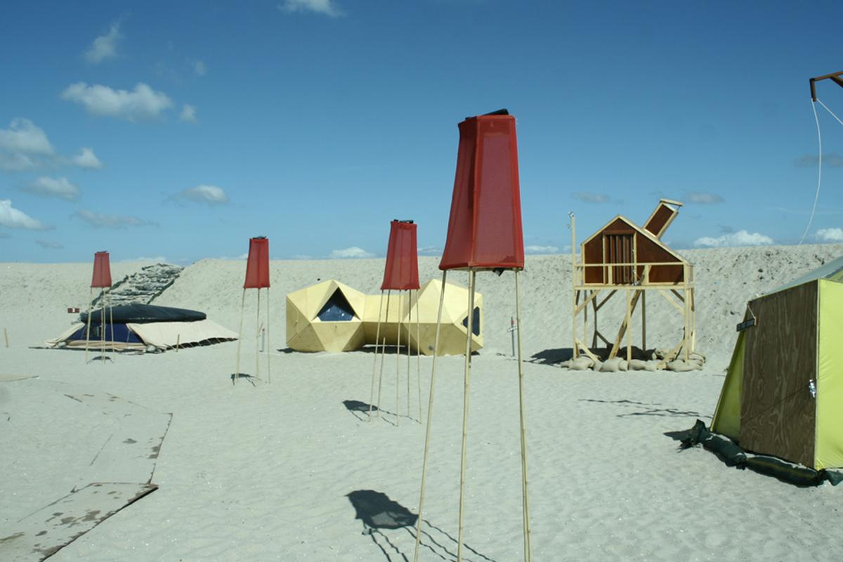 UrbanCampsite Amsterdam has transformed a barren stretch of land into a community of rentable shelters
