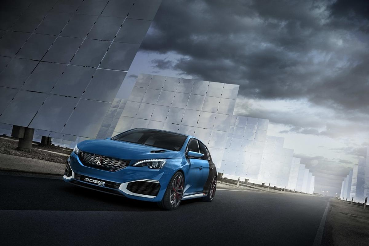 The Peugeot 308 R Hybrid concept is a petrol-electric hybrid hatchback
