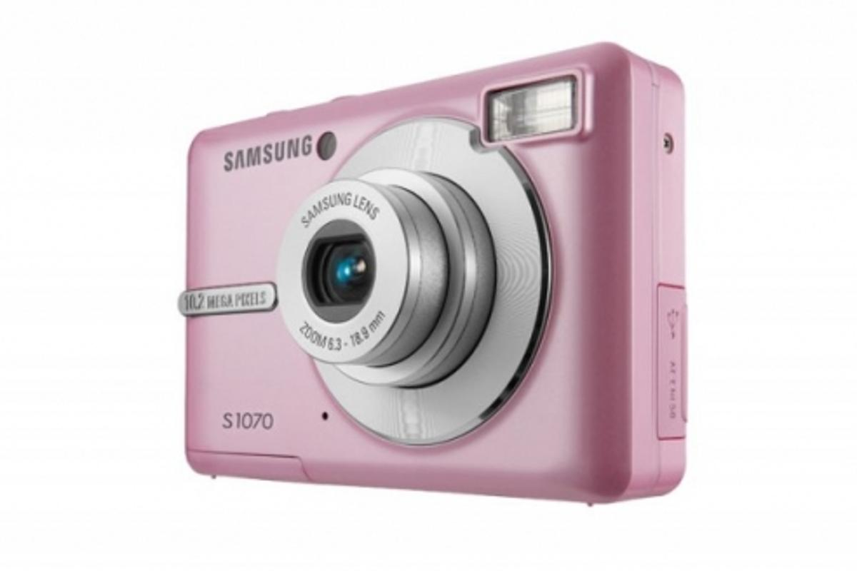 Samsung has announced a new USB wireless transfer solution for its digital camera range (Pictured - Samsung S1070)