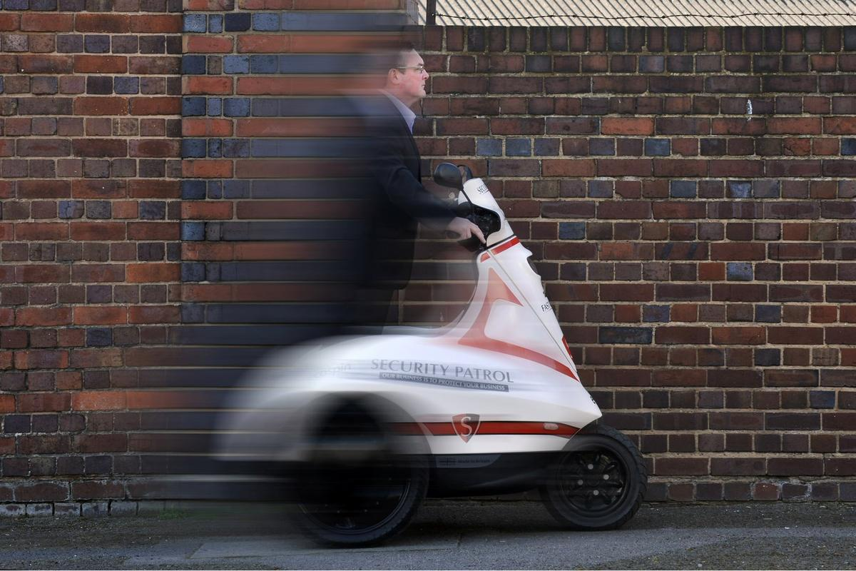 The Ecospin Raptor three-wheeled electric personal vehicle is now available and headed for security personnel, the police, postal workers, theme park staff, event management firms and airports near you