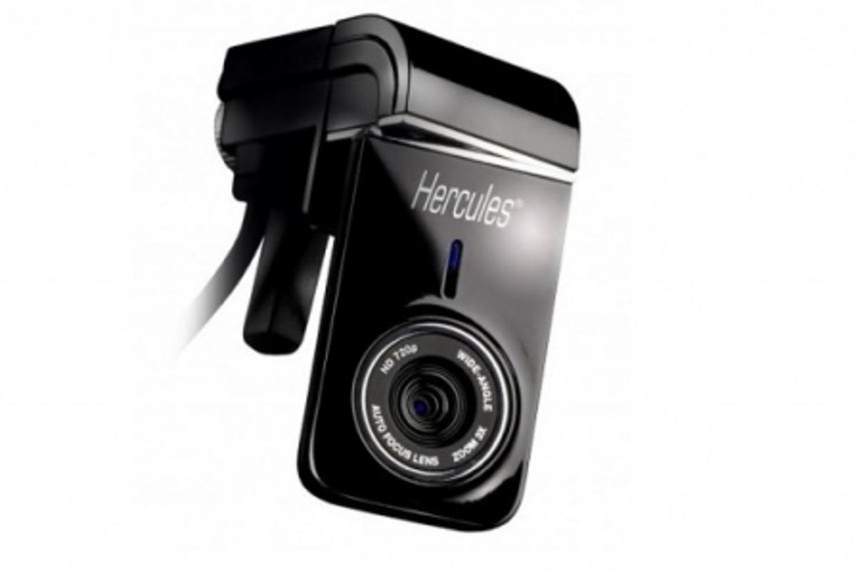 The Hercules Dualpix HD720p webcam shoots 720p HD video and tilts for eye-to-eye video chat sessions