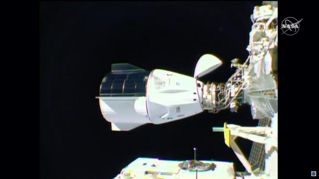 SpaceX's Crew Dragon spacecraft docks with the ISS