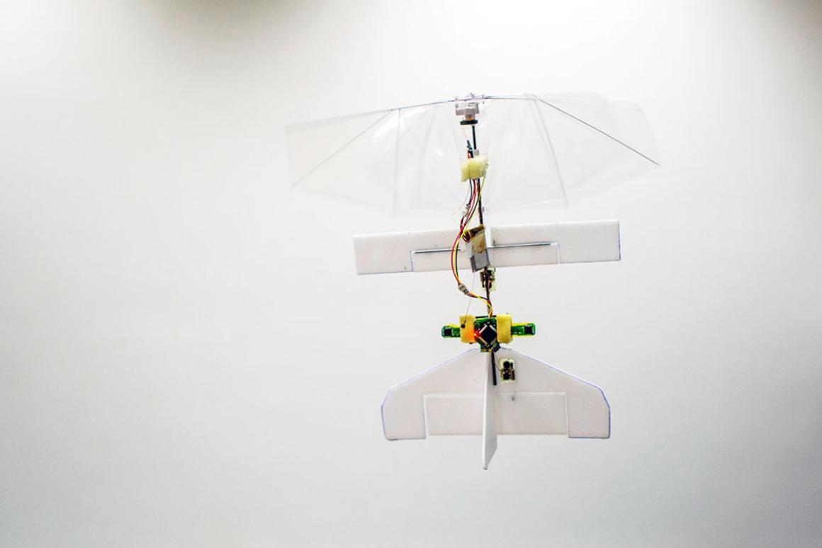 The DelFly Explorer MAV in flight