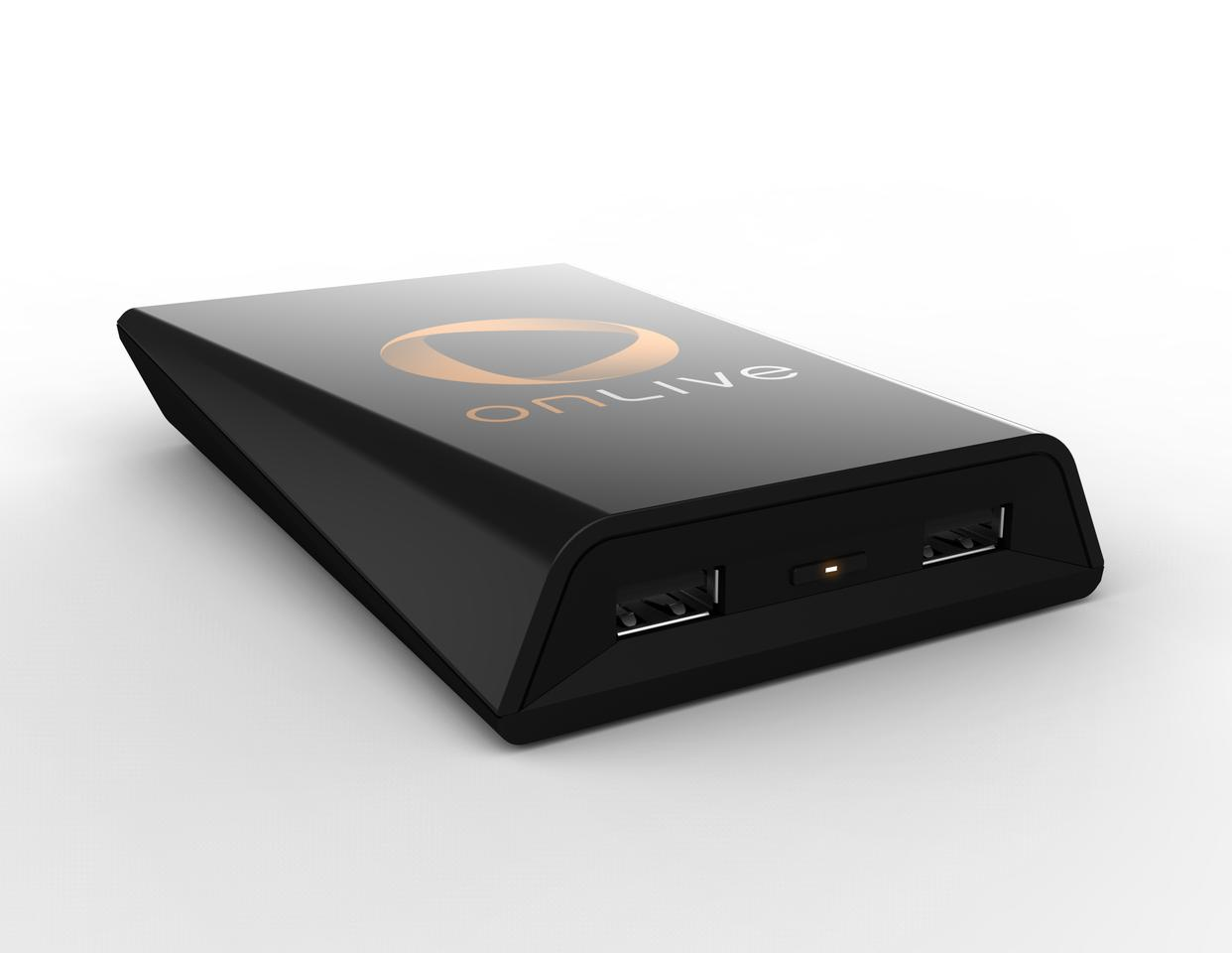 The Onlive Game System adapter which bridges the gap between TV and router to deliver online games direct to the television screen