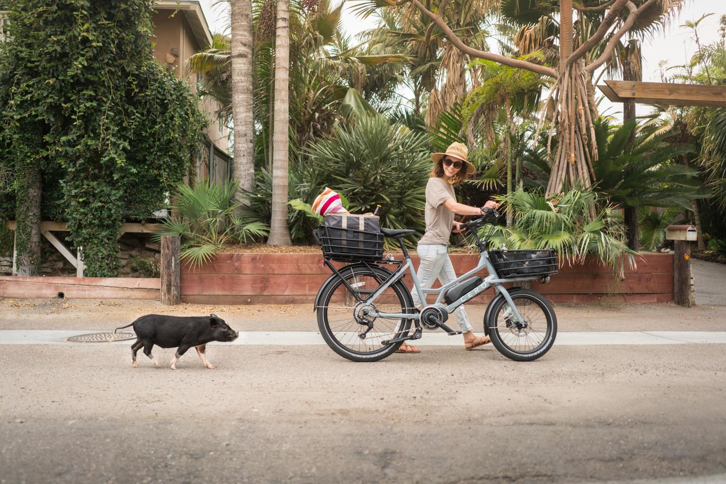 The CEROOne offers a more compact and traditional designversus some of the other electric cargo bikemodels out there
