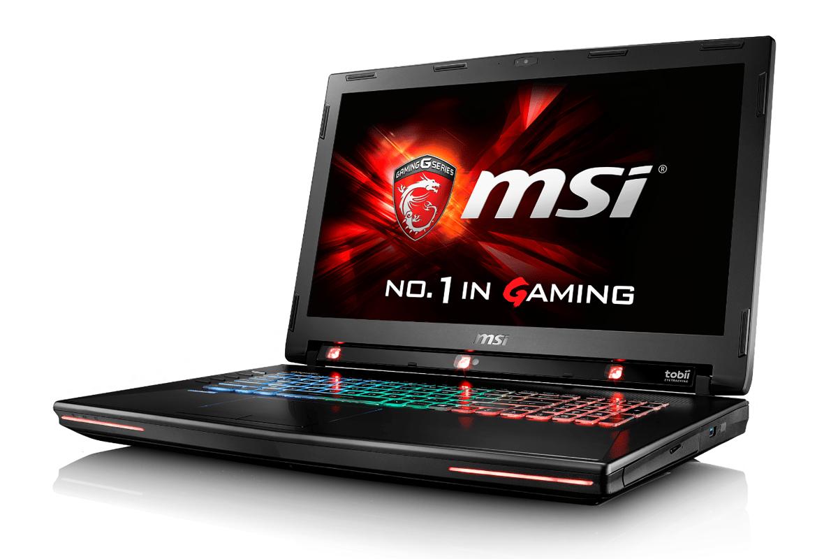 The MSI GT72S G Tobii integrates a trio of near-IR illuminators at the bottom of a 17.3 in FHD screen