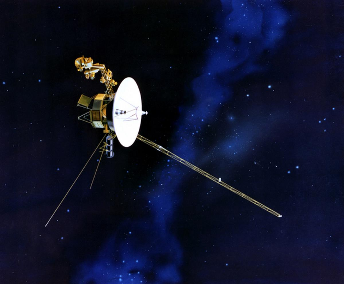 Artist's concept of Voyager in flight