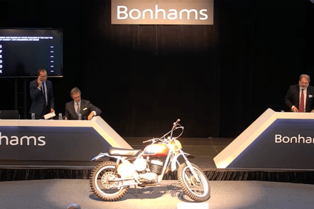 The most expensive Husqvarna ever sold: The 400 Cross ridden in 'On Any Sunday'