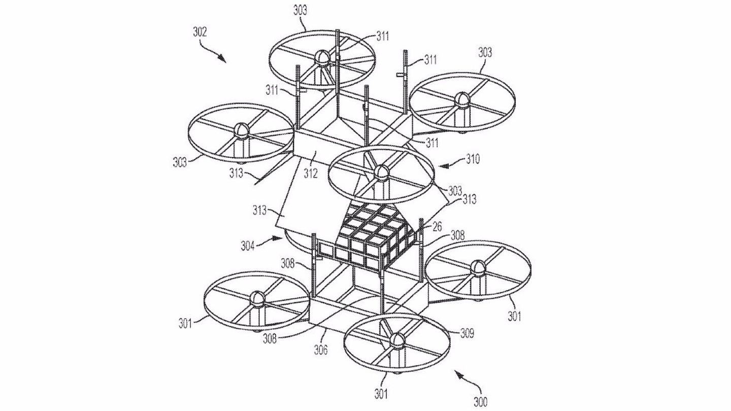 An alternative configuration to the arm drones