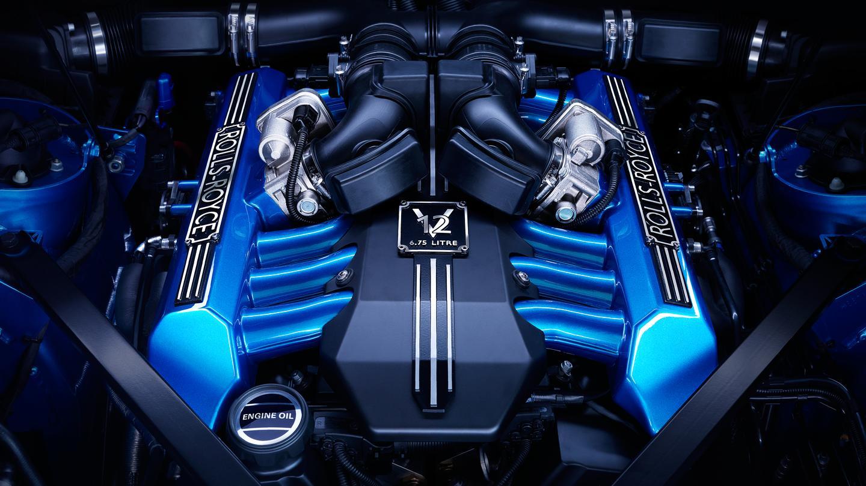 The Rolls-Royce Phantom Waterspeed Drophead engine