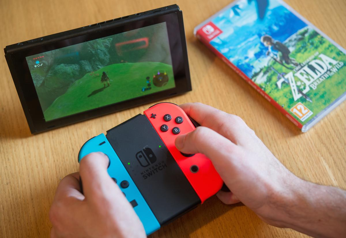 The Nintendo Switch can be played in tabletop mode almost anywhere