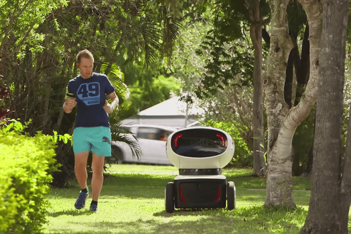 DRU is designed for short-range deliveries, and is also apparently deeply disturbing to joggers