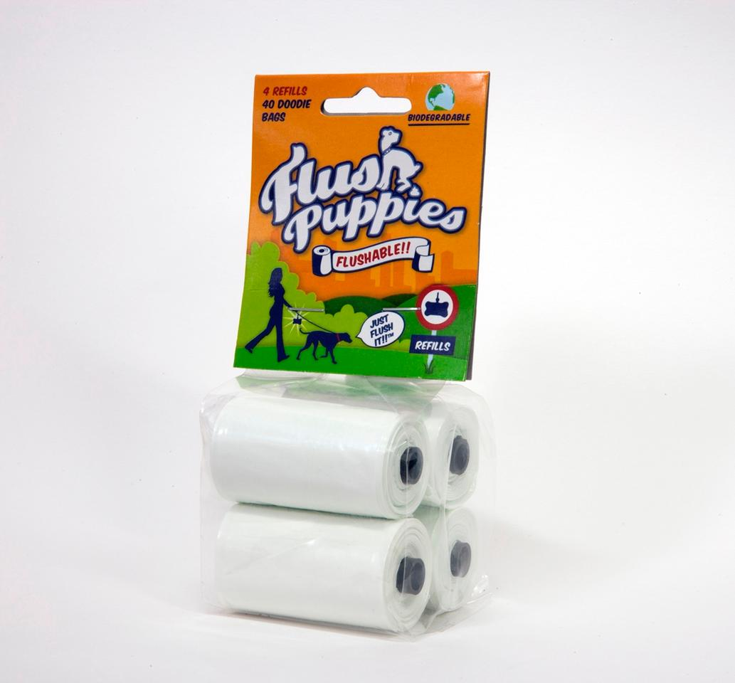 Flush Puppies refills are also available