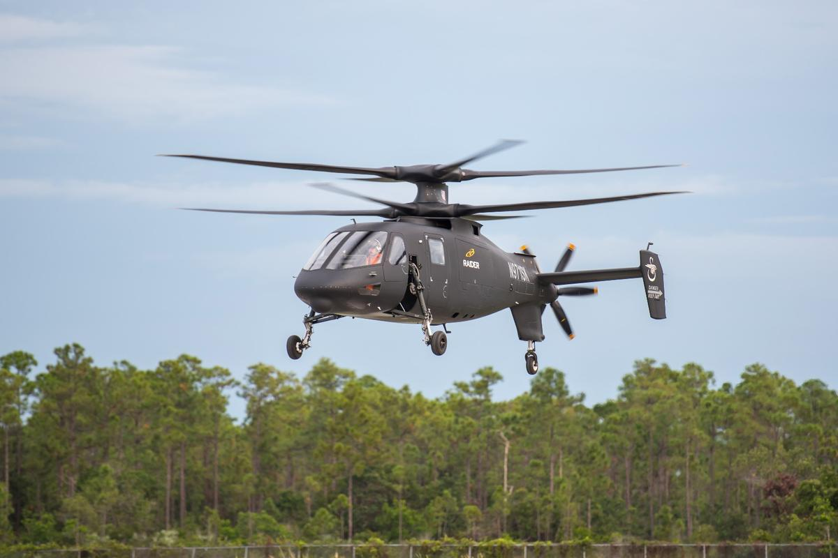 The Sikorsky S-97 Raider can reach speeds of220 knots – almostdouble the speed of a conventional helicopter
