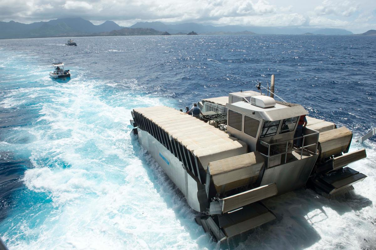 US Marines test new Monster Amphibious Transporter