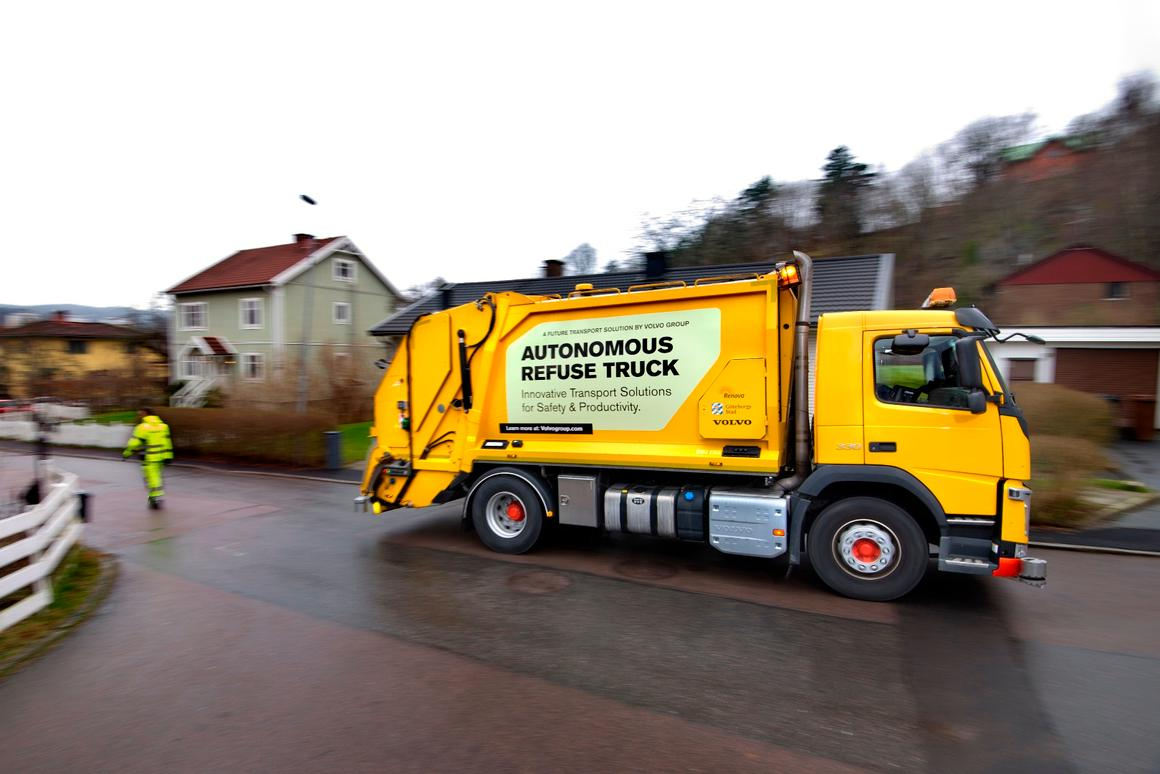 Volvo says that the technical aspects of an autonomous refuse truck are already in place, but testing and development must continue before it can become a commercial reality