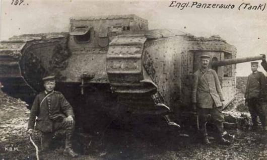 One of the original tanks involved in the Battle of the Somme