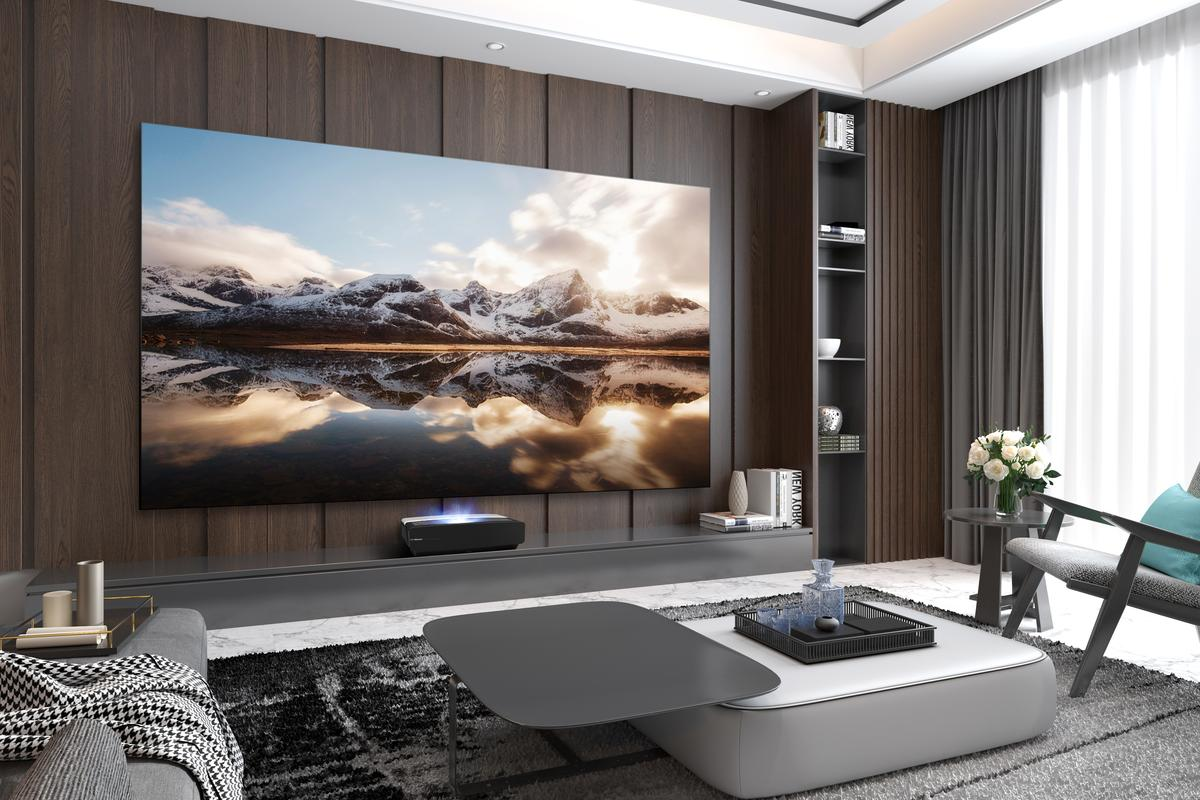 The L5F Laser Cinema can throw a 120-inch 4K image from inches away