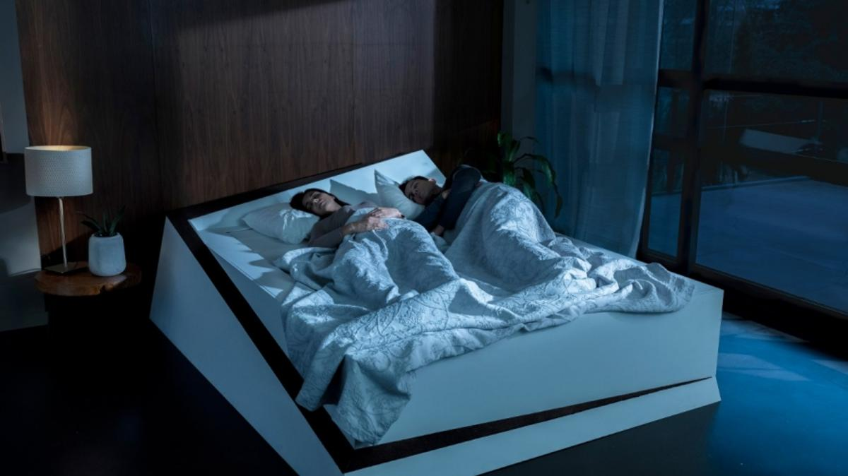 The Lane-Keeping Bed utilizes technologies derived from Ford's lane-keeping assist systems on automobiles